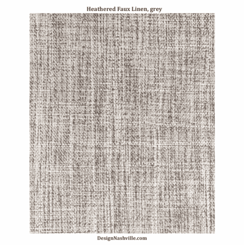 Heathered Faux Linen Fabric, grey