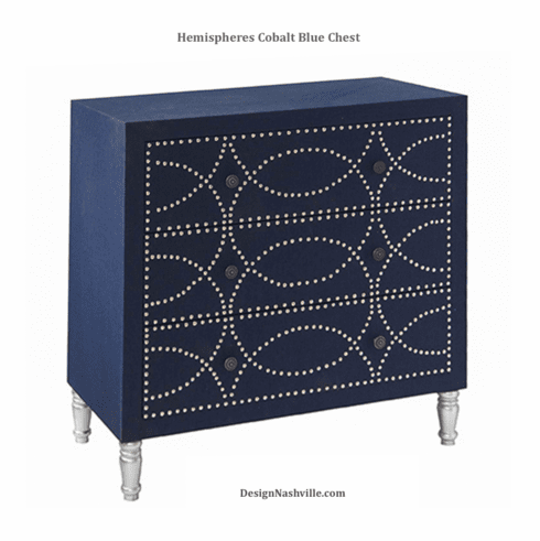 Hemispheres Cobalt Blue Chest