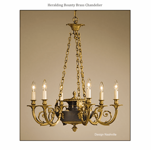 Heralding Bounty Brass Chandelier