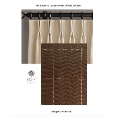Hill Country Brown Plaid Drapery Pair, deluxe fullness