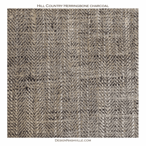 Hill Country Herringbone Fabric<br> charcoal