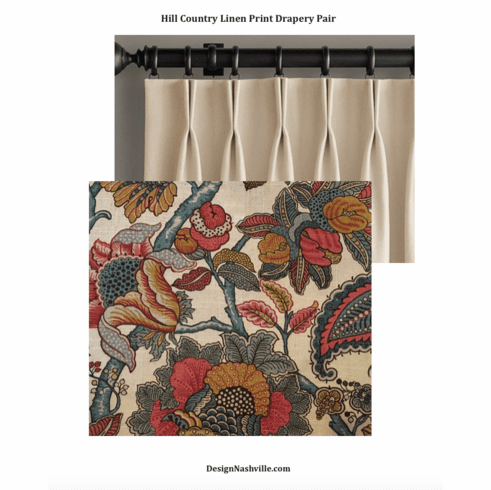 Hill Country Print Drapery Pair, deluxe fullness