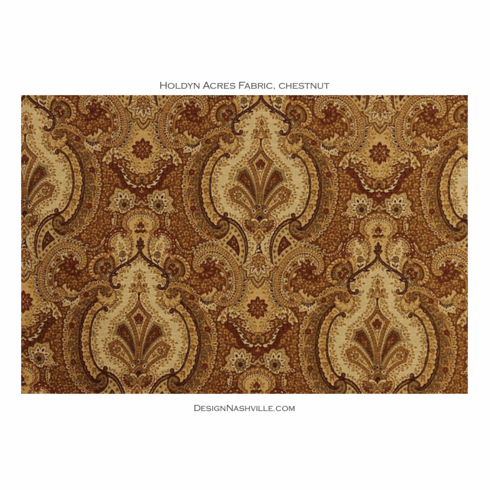 Holdyn Acres Paisley Damask Fabric, chestnut