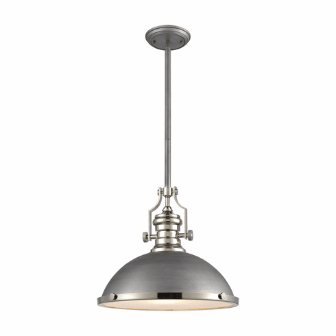 Hugo Weathered Zinc Pendant Light