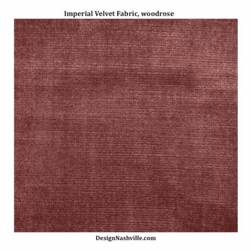 Imperial Velvet Fabric, woodrose