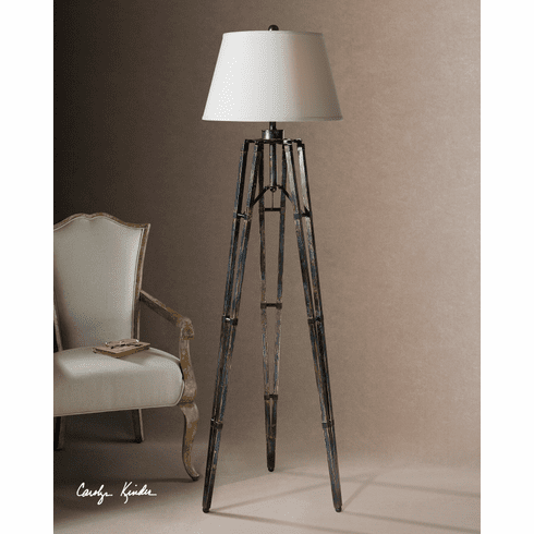 Industrial Tripod Floor Lamp 68""