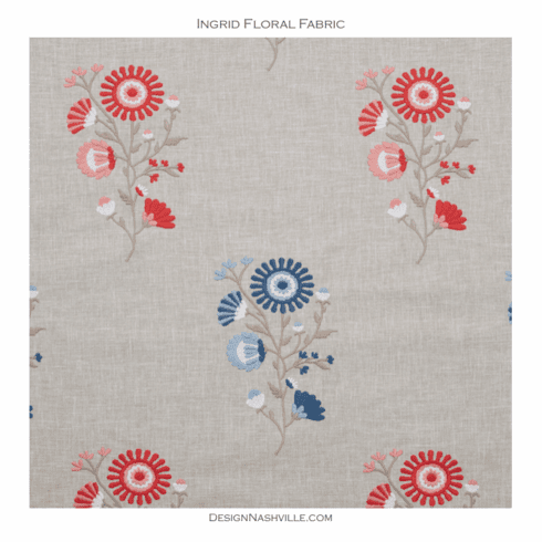 Ingrid Floral Fabric, red