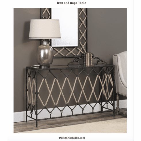 Iron and Rope Table
