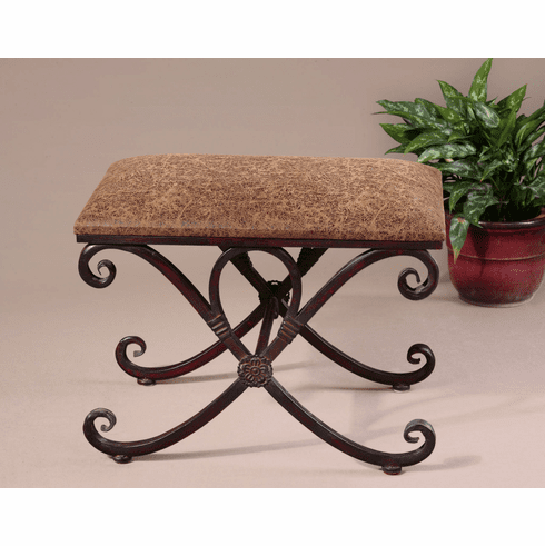 Iron Scroll Bench