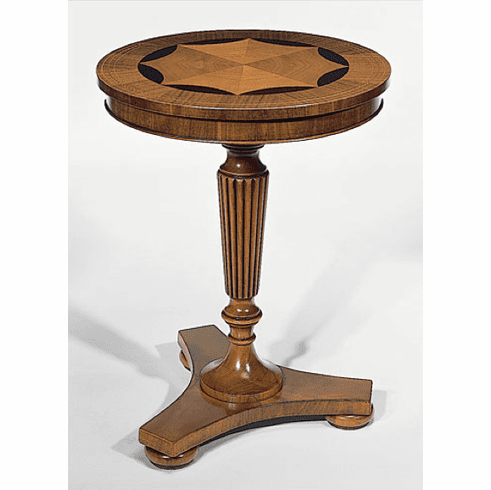 Italian Inlay Pedestal Table