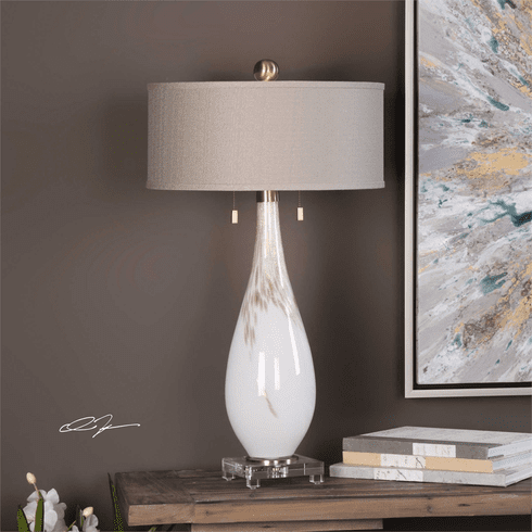 Josefine White Glass Lamp