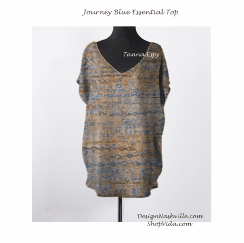Journey Blue Essential Top