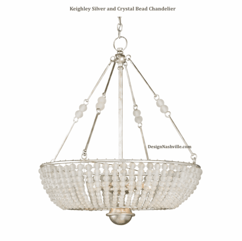 Keighley Silver and Crystal Bead Chandelier