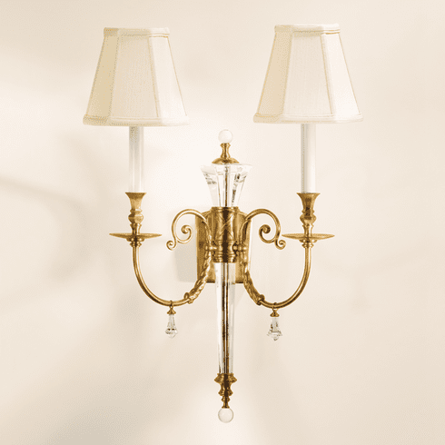 Kendrick Brass and Crystal Light Sconce