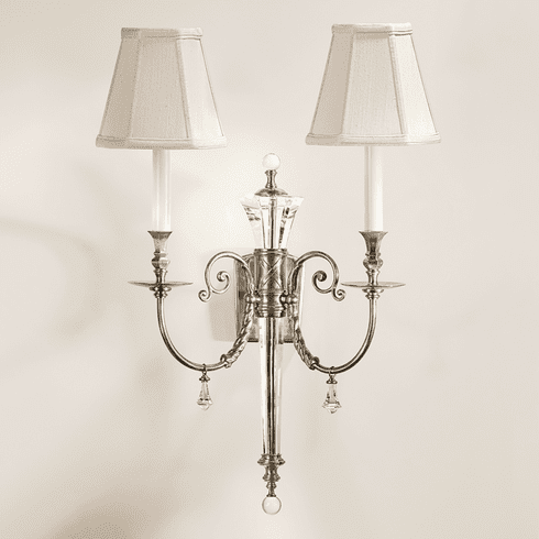 Kendrick Silver and Crystal Light <br>Sconce