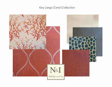 Key Largo Coral Bedding and Drapery Collection