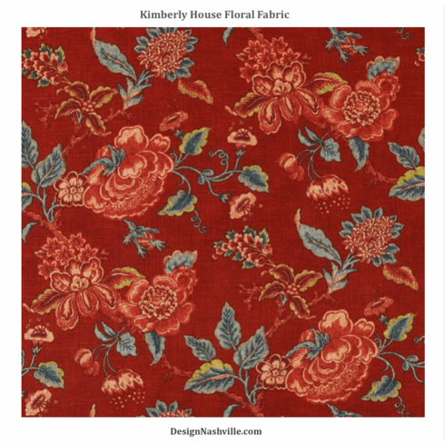 Kimberly House Floral Fabric