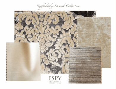 Knightsbridge Damask Bedding and Drapery Collection