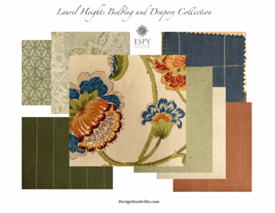 Laurel Heights Bedding and Drapery Collection