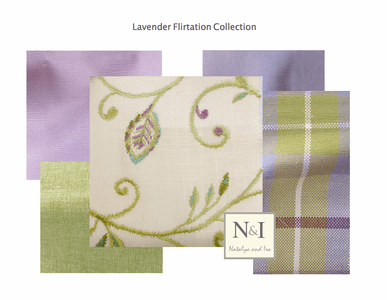 Lavender Flirtation Drapery and Bedding Collection