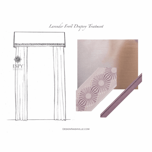 Lavender Frost Drapery Treatment