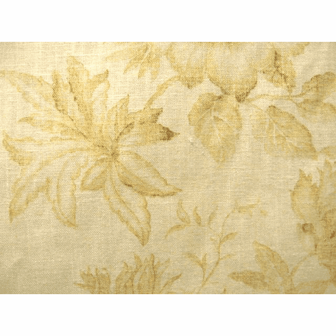Leaf Toile fabric, butter yellow