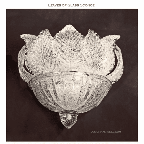 Leaves of Glass two light Sconce