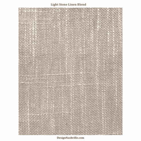 Light Stone Linen Blend Fabric