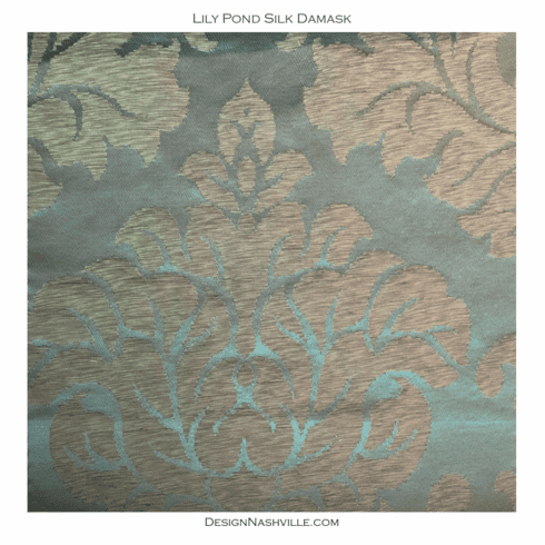 Lily Pond Silk Damask