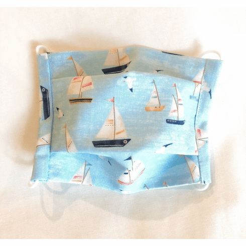 Little Sailboats Washable Face Mask for Kids