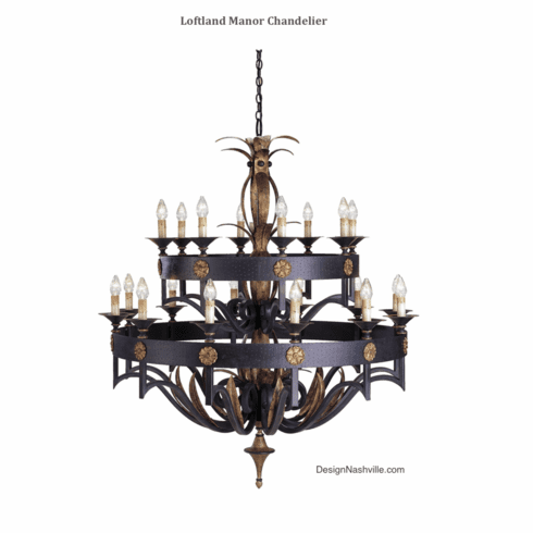 Loftland Manor Chandelier, extra large
