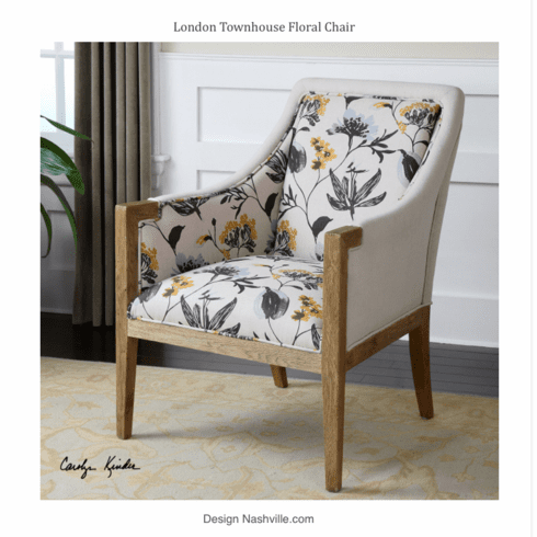 London Townhouse Floral Chair