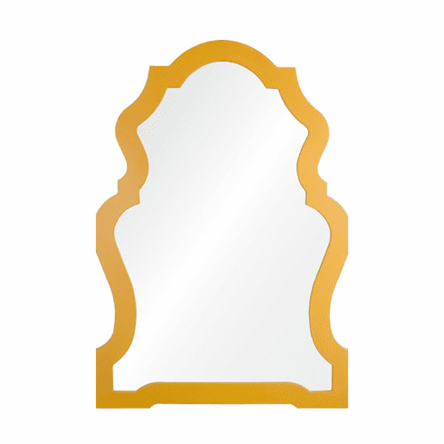 Looking Glass Shaped Mirror, yellow