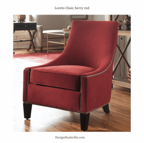 Loreto Chair, berry red