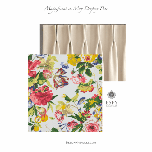 Magnificent in May Floral Drapery Pair