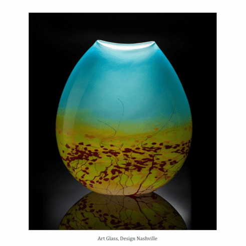 Meadow Art Glass Vase
