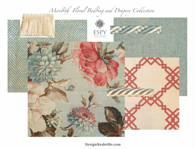 Meredith Floral Bedding and Drapery Collection