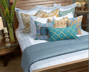 Meridian Blue Bedding Ensemble