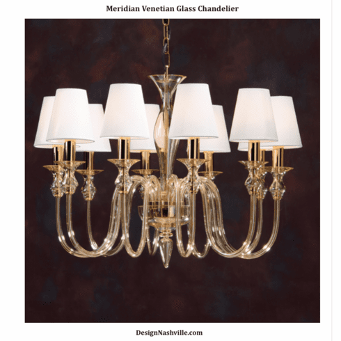 Meridian Venetian Glass Chandelier
