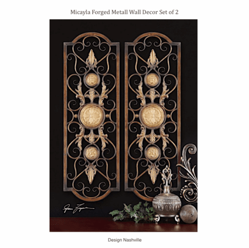Micayla Forged Metal Wall Decor set of 2