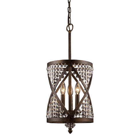 Millenium Chandelier Pendant, bronze finish
