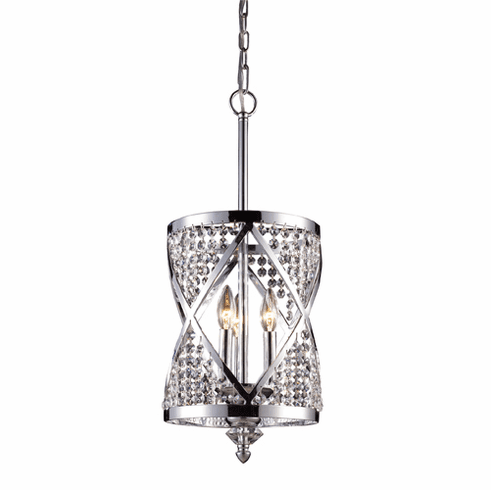 Millenium Chandelier Pendant, chrome