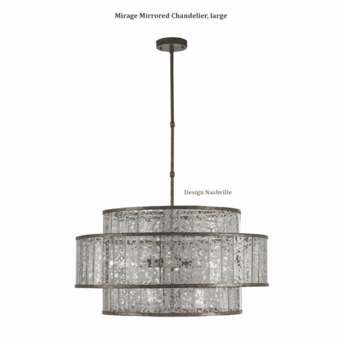 Mirage Mirrored Chandelier, large