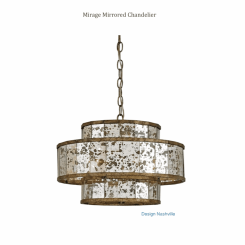 Mirage Mirrored Chandelier, small