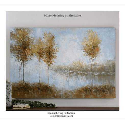 """Misty Morning on the Lake  canvas art 60"""""""