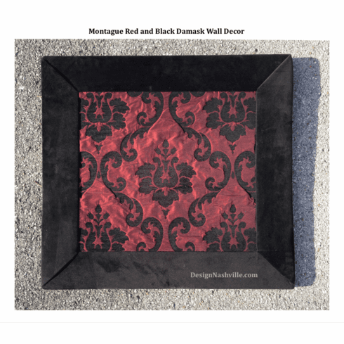 Montague Red and Black Damask Wall Decor