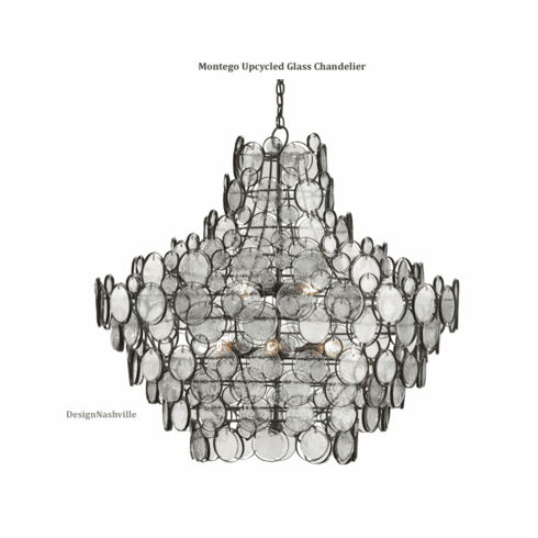 Montego Up-cycled Glass Chandelier