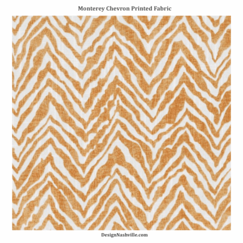 Monterey Chevron Printed Fabric