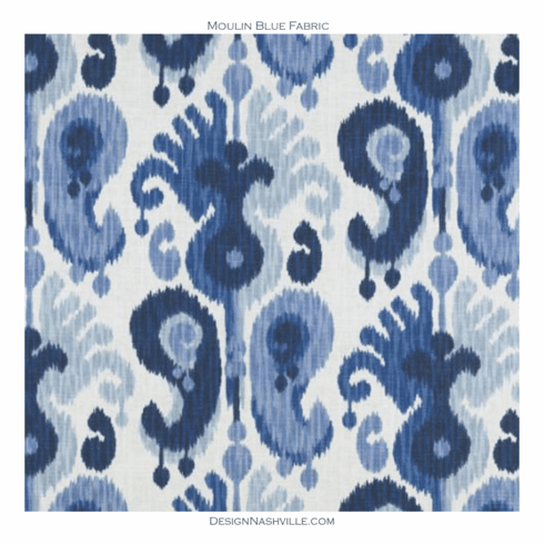 Moulin Blue Ikat Fabric