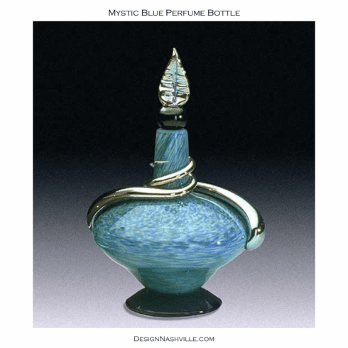 Mystic Blue Perfume Bottle